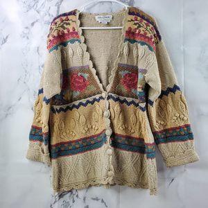 Vintage Hand Knit Chunky Oversize Sweater